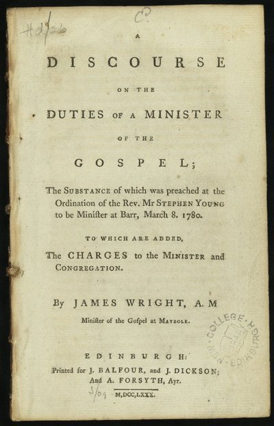 A Discourse on the Duties of a Minister of the Gospel