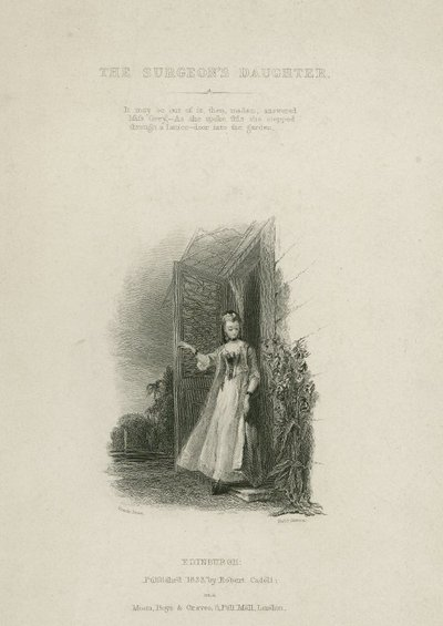 Surgeon's Daughter, The; [Steel engraving by R. Graves after a design by F. Stone of a scene from Scott's story The Surgeon's Daughter]