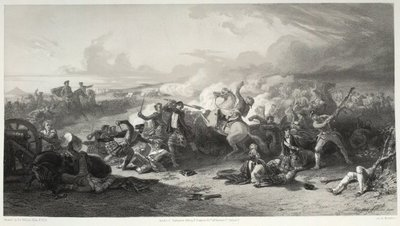 Waverley; or 'Tis Sixty Years Since; [Lithograph of the Battle of Prestonpans]