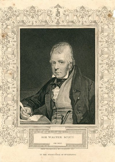 Portrait of Sir Walter Scott engraved by H.T. Ryall after J.P. Knight; [Portraits]; Sir Walter Scott, Ob. 1832