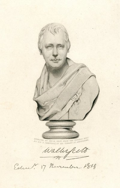 [Portraits]; [Engraved portrait by G.B. Shaw from a bust of Sir Walter Scott by Sir F. L. Chantrey]