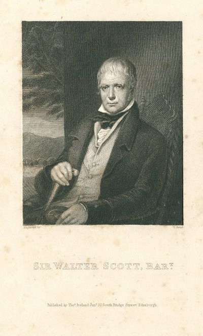 Engraved portrait of Sir Walter Scott by W. Read after C.R. Leslie; [Portraits]; Sir Walter Scott, Bart.