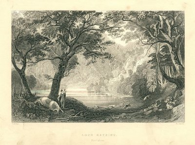 Engraving of Loch Katrine by R. Sands after T. Allom; Lady of the Lake, The; Loch Katrine, Perthshire