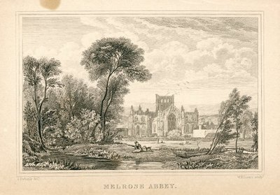 Engraving of Melrose Abbey by W.H. Lizars after J. Ewbank; Lay of the Last Minstrel, The; Monastery, The; Abbot, The; Essay on Border Antiquities; Melrose Abbey