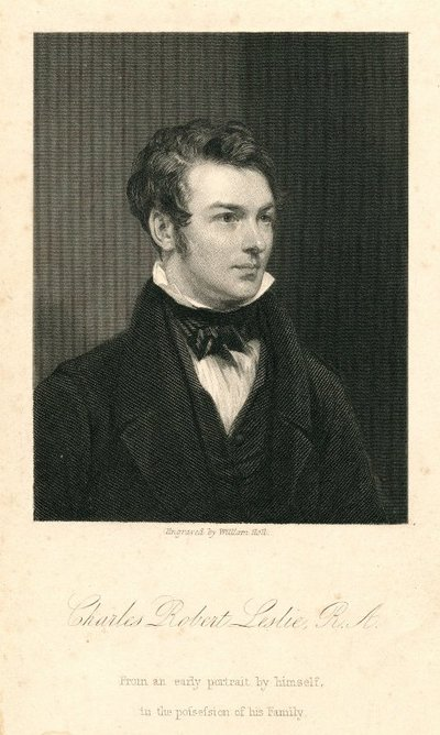 [Portraits]; [Engraving by W. Holl of a self-portrait by C. R. Leslie]