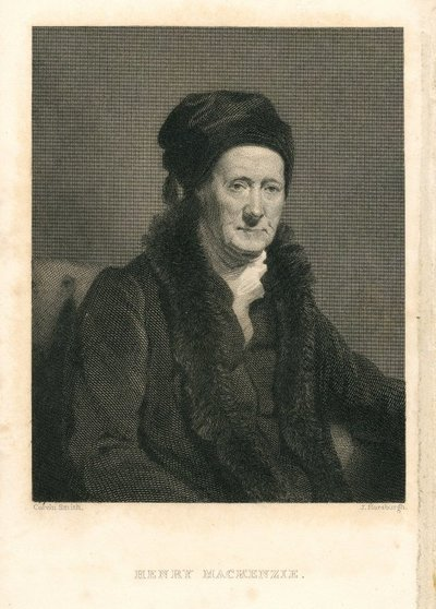 Engraved portrait of Henry Mackenzie by J. Horsburgh after C. Smith; Lives of the Novelists; Henry Mackenzie