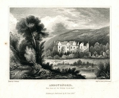 Engraving of Abbotsford House by W. H. Lizars after J. Ewbank; [Homes and Haunts]; Abbotsford: The Seat of Sir Walter Scott, Bart.