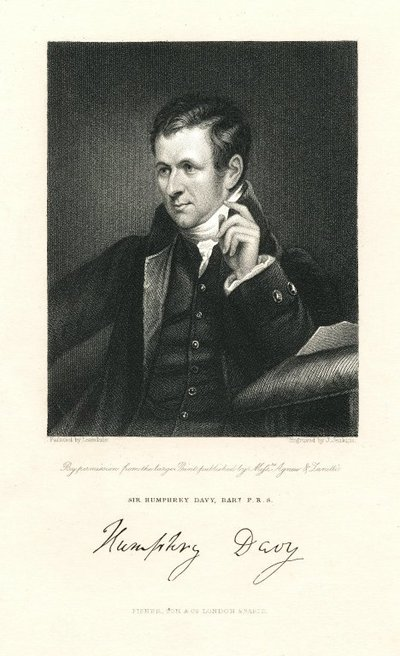 Engraved portrait of Sir Humphry Davy by J. Jenkins after J. Lonsdale.; [Portraits]; Sir Humphrey Davy, Bart. P.R.S. : By Permission From the Large Print Published by Messrs. Agnew & Lanitti