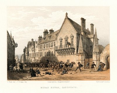 Lithograph of Moray House, Edinburgh by T. Picken after J. Nash; Chronicles of the Canongate; Moray House, Canongate