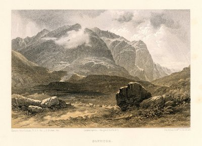 Lithograph of Glencoe by T. Picken after H. McCulloch; On the Massacre of Glencoe; Tales of a Grandfather; being Stories taken from Scottish History; Glencoe