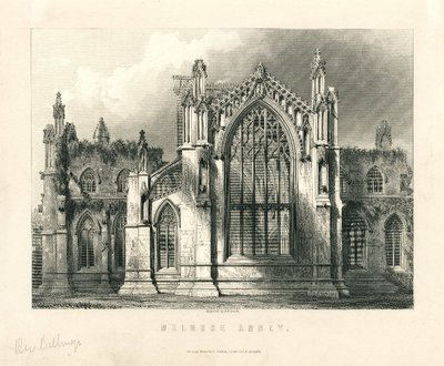 Engraving of Melrose Abbey by G.B. Smith after R.W. Billings; Lay of the Last Minstrel, The; Monastery, The; Abbot, The; Essay on Border Antiquities; Melrose Abbey