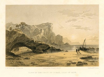 Lithograph of Sleat, Isle of Skye, by T. Picken after H. McCulloch; Lord of the Isles, The; Waverley; or 'Tis Sixty Years Since; View of the Coast of Sleat, Isle of Skye