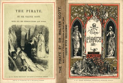 Pirate, The; [Front and back cover illustrations for an edition of The Pirate by Walter Scott]