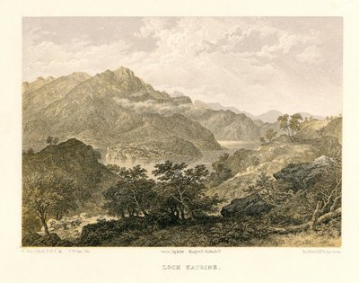 Lithograph of Loch Katrine by T. Picken after H. McCulloch; Lady of the Lake, The; Loch Katrine