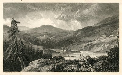 Monastery, The; [Engraving of the Vale of Gala Water by W. Forrest after C. Stanfield]