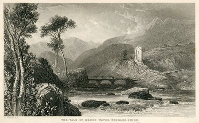 Engraving of Manor Valley by R. Brandard after C. Stanfield; Black Dwarf, The; The Vale of Manor Water, Peebles-Shire