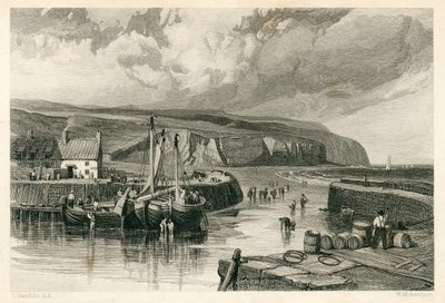 Image from object titled Bride of Lammermoor, The; [Engraving of Eyemouth and the coast of Berwickshire by W. Richardson after C. Stanfield]