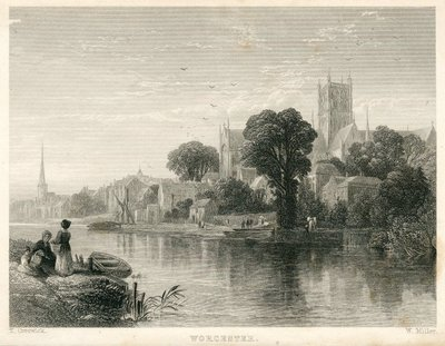 Engraving of Worcester by W. Miller after T. Creswick; Woodstock; Worcester