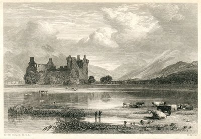 Highland Widow, The; [Engraving of Kilchurn Castle and Loch Awe by W. Miller after H. McCulloch]