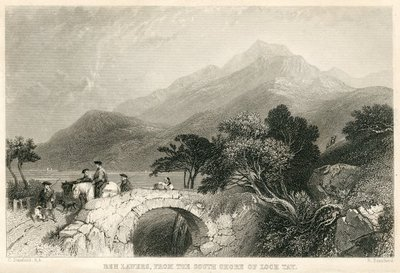 Engraving of Ben Lawers by R. Brandard after C. Stanfield; Fair Maid of Perth, The; Ben Lawers, From the South Shore of Loch Tay