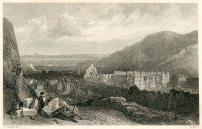 Waverley; or 'Tis Sixty Years Since; [Engraving of the Palace of Holyroodhouse by W. Miller after C. Stanfield]