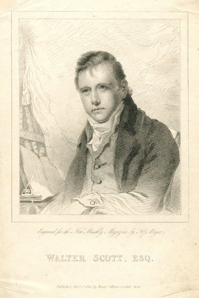 Engraved portrait of Walter Scott by H. Meyer after H. Raeburn; [Portraits]; Walter Scott, Esq.: Engraved For the New Monthly Magazine, by Hy. Meyer