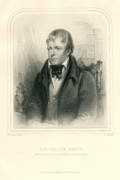 Engraved portrait of Walter Scott by H. Robinson after J. W. Gordon; [Portraits]; Sir Walter Scott: From the Original in Possession of the Publishers