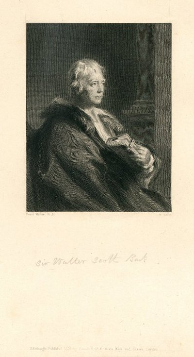 Engraved portrait of Walter Scott by E. Smith after D. Wilkie; [Portraits]; Sir Walter Scott Bart.