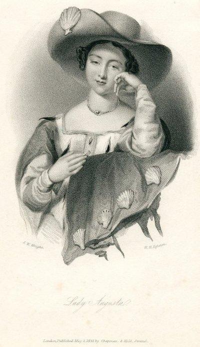 Engraved portrait by W.H. Egleston after J.W. Wright of the heroine of Scott's novel Castle Dangerous; Castle Dangerous; Lady Augusta