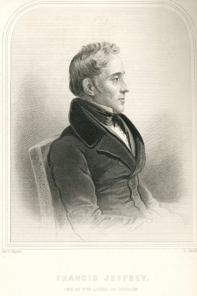 Engraved portrait of Francis Jeffrey by G. Stodart after G. Hayter; Marmion; a Tale of Flodden Field; Francis Jeffrey: One of the Lords of Session
