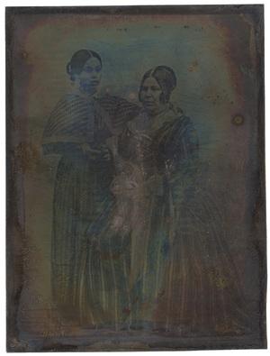 Image 10,9 x 8 cm; Portrait de deux femme