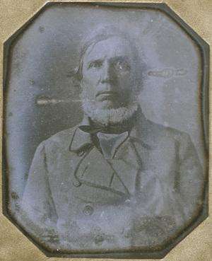 Image 7 x 5,5 cm; Support 9,5 x 8,3 cm; Fenêtre 8 x 7 cm; Jules MICHELET historien et écrivain (1798-1874)
