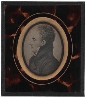 Image 6 x 4.5 cm; Cadre 11 x 10 cm; Portrait de Louis Philippe Cochois