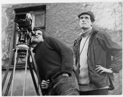 Image from object titled Krzysztof Kieślowski (behind the camera) and Piotr Jaxa-Kwiatkowski