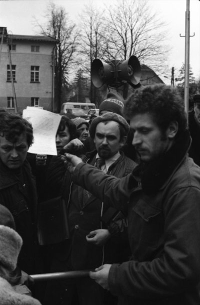 Image from object titled Gencjana - strajk okupacyjny 1981 (fot. 5) [Dokument ikonograficzny]