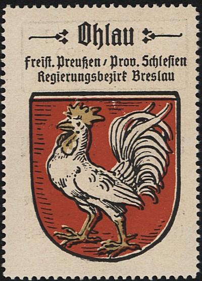 Image from object titled Ohlau [znaczek pocztowy]