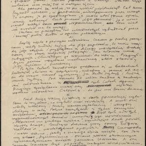 """Rękopis dzieła tekstowego / """"Którędy"""""""