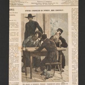 Meir ukazuje się Kalmanowi, Abramowi i Kamionkerowi podczas tajemnej ich narady