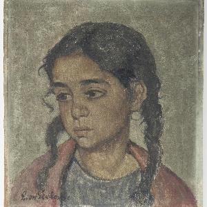 """Obraz """"Portret dziewczynki"""""""