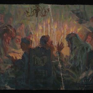 Image from object titled Żydzi przy świecach