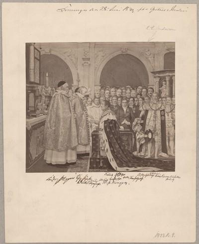 Kong Christian den Ottendes Salving i Frederiksborg Slotskirke d. 28 Juni. 1840