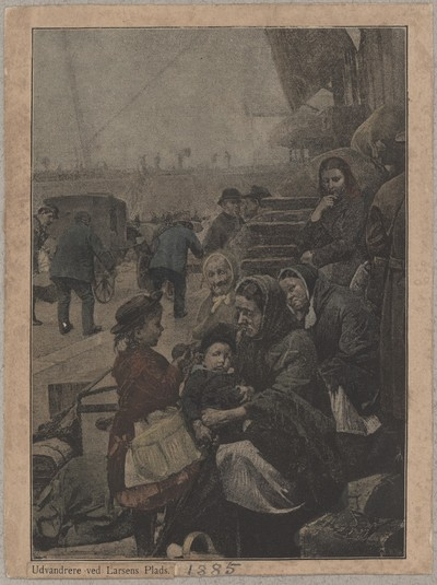 Udvandrere ved Larsens Plads