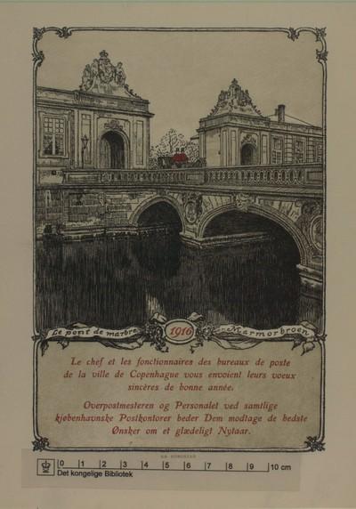 Le pont de marbre, Marmorbroen 1916