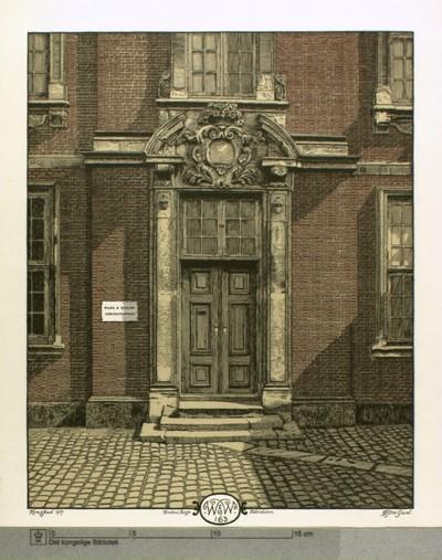 Gamle Asiatisk Kompagnis administrationbygning på Strandgade 25, østre gavl
