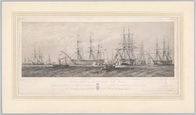 The Declaration of War communicated to the Fleet by Signal by Vice Admiral Sir Charles Napier, K.C.B., at Kioge Bay, 4 April 1854