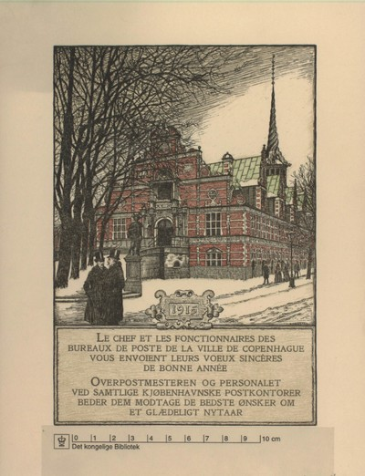 Børsen set fra Slotsholmsgade/Christiansborg Slotsplads, 1915
