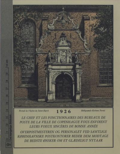 Helligånds-Kirkens Portal, 1926