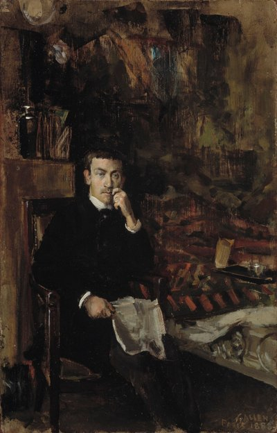 Image from object titled Bohême, Portrait of the Norwegian Artist C. A. Dørnberger