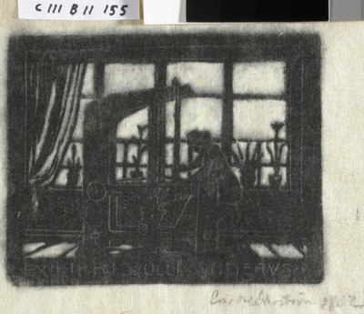 Image from object titled Olli Gummeruksen exlibris