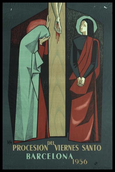 Procesión del Viernes Santo : Barcelona : 1956